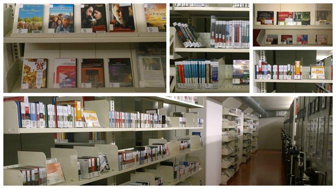 DVD und Hörbücher am neuen Standort im Untergeschoss der HSG-Bibliothek
